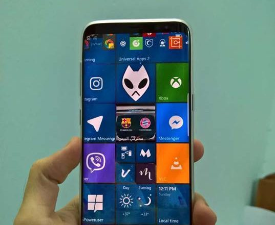 Pictures of Samsung Galaxy S8 Running Windows 10 Mobile OS leaks online